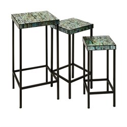 IMAX Corporation Aramis 3 Piece Mosaic Glass Table Set