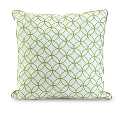 IMAX Corporation Essentials Embroidered Decorative Pillow in Green