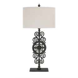 IMAX Corporation Watson Cast Iron Table Lamp in Black