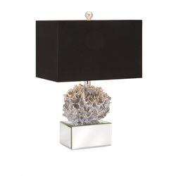 IMAX Corporation Vargas Coral Table Lamp in Silver