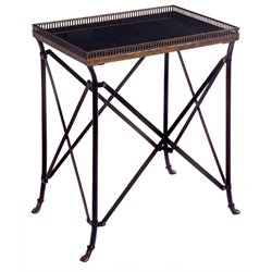IMAX Corporation Rectangular Accent Table in Black