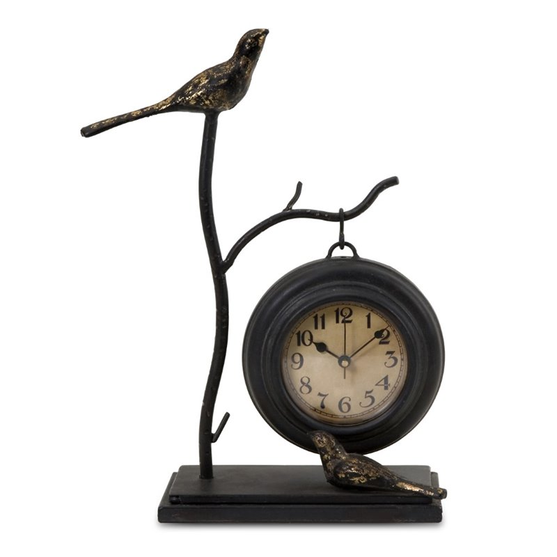 IMAX Corporation Bird and Branch with Hanging Clock