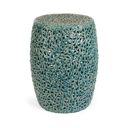 IMAX Corporation Tobias Cutwork Garden Stool in Turquoise