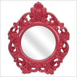 IMAX Corporation Finely Baroque Wall Mirror in Pink