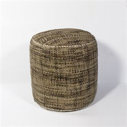 KAS Round Hand-Made Pouf in Mocha