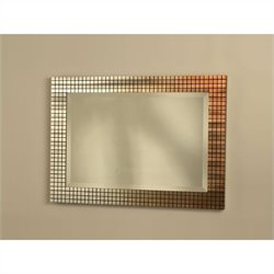 NOVA Lighting Bronze Grid Wall Mirror