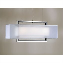 NOVA Lighting Amarillo Large Pendant in Silver and Brushed Nickel