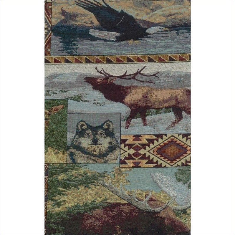 Blazing Needles S/5 Tapestry Futon Cover Package in The Wild North