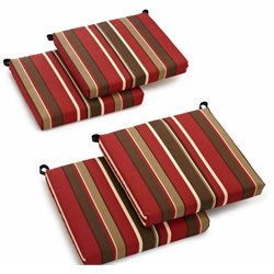 Blazing Needles Set of 4 Outdoor Patio Cushions