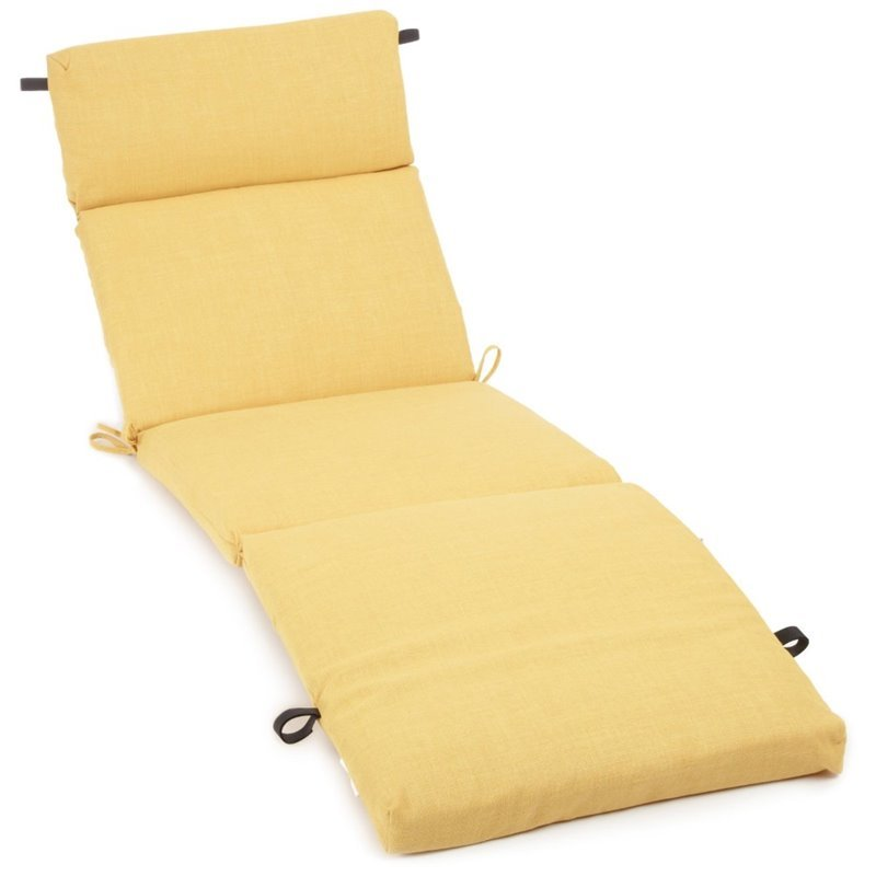 Blazing needles 72 patio chaise lounge cushion in solid for Blazing needles chaise cushion