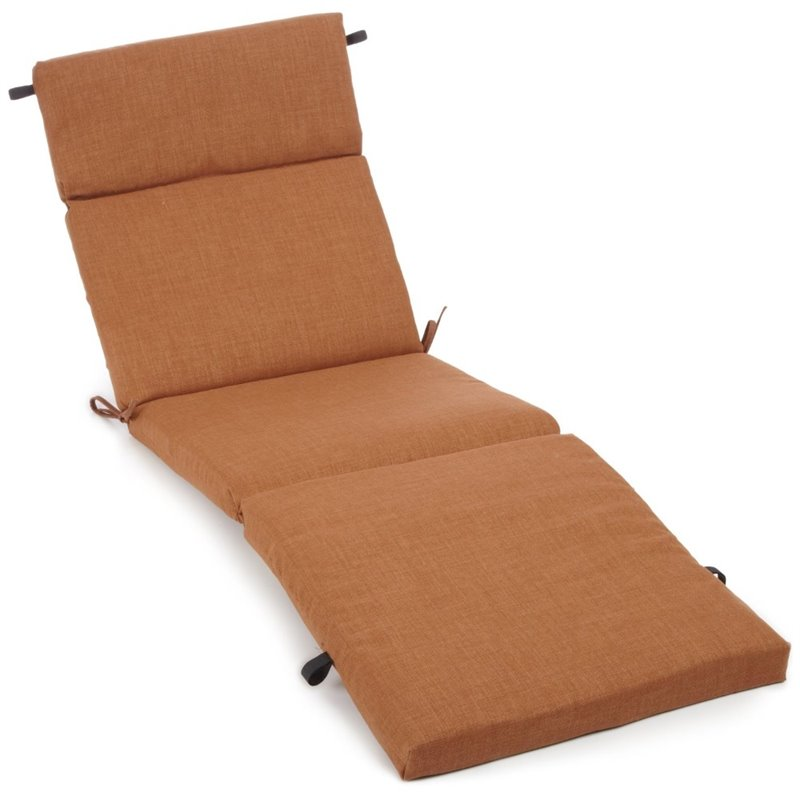 Blazing needles 74 patio chaise lounge cushion 93475 74 for Blazing needles chaise cushion