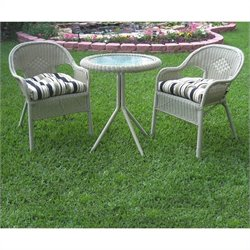 Blazing Needles Set of 2 Outdoor Patio Bistro Cushions