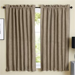 Blazing Needles 63 inch Blackout Curtain Panels in Java (Set of 2)