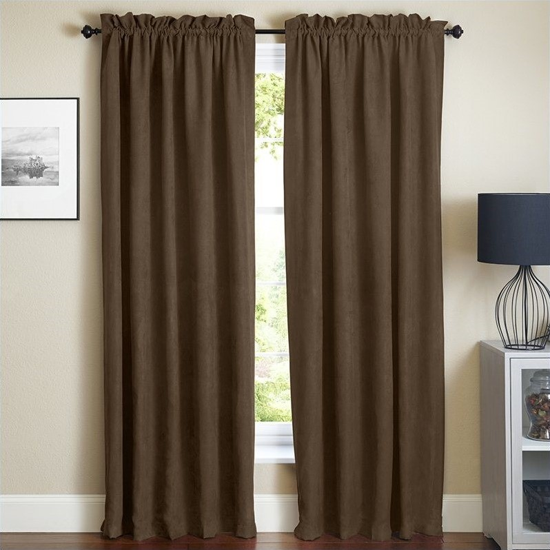 Blazing Needles 108 Inch Blackout Curtain Panels In