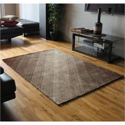 Blazing Needles 5 foot by 7 foot Shag Rug in Beige and Brown