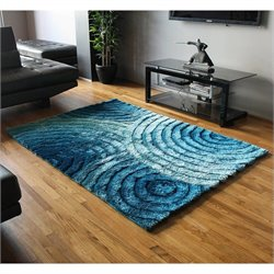 Blazing Needles Gradated Shag Rug in Blue