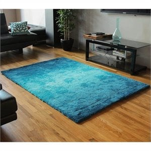 Blazing Needles 5 foot by 7 foot Gradated Shag Rug in Blue