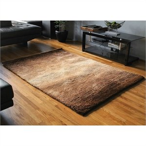 Blazing Needles 5 foot by 7 foot Gradated Shag Rug in Beige and Brown