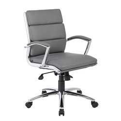 Plus Executive Mid-Back Chair in Gray