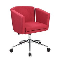 Boss Office Metro Club Desk Chair in Marsala Red