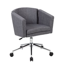 Boss Office Metro Club Desk Chair in Slate Gray