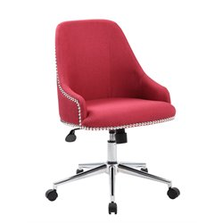 Boss Office Carnegie Desk Chair in Marsala Red