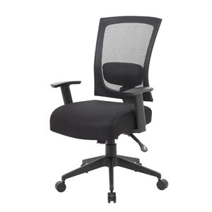 Mesh Back 3 paddle Task Chair in Black