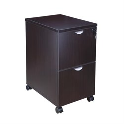 Boss Office 2 Drawer Mobile File Cabinet in Mocha