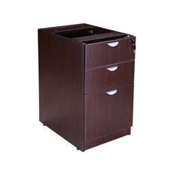 3 Drawer Deluxe Pedestal in Mocha