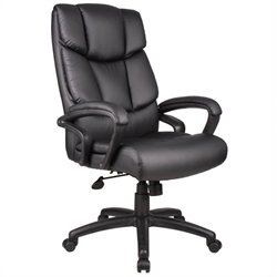 Overstuffed Executive Leather Office Chair