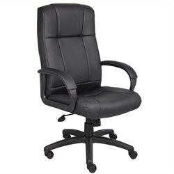 Boss Office Products Modern Executive High Back Chair in Black
