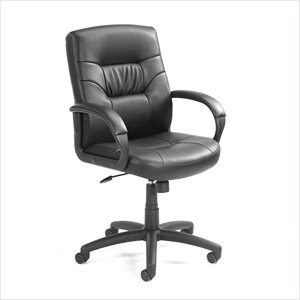 Boss Office Products Mid-Back Executive Leather Chair