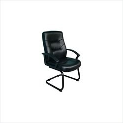 Boss Office Products Black Leather Cantilever Base Guest Chair