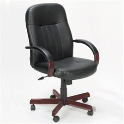 Boss Office Products High Back Executive Chair - Cherry