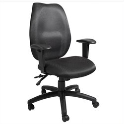 Boss Office Products Ergonomic Multi-tilt Task Chair with Adjustable Arms - Black
