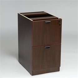 2 Drawer Vertical Wood File Cabinet in Mahogany