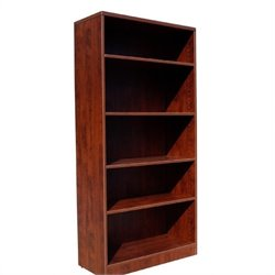 Boss Office Products Bookcase in Mahogany Finish