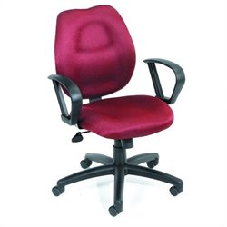 Boss Office Products Rachet Back Molded Foam Task Chair with Loop Arms - Black
