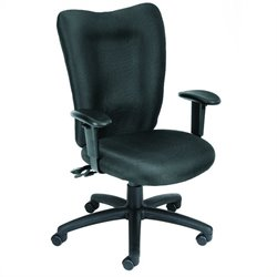 Boss Office Products Fabric Multi-Function Task Chair with Adjustable Arms - Burgundy