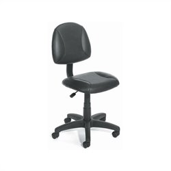 Boss Office Products Adjustable Black Leather Deluxe Posture Chair
