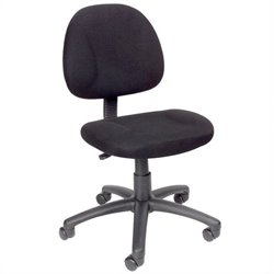 Boss Office Products Adjustable DX Fabric Posture Chair in Black