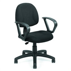 Boss Office Products Deluxe Posture Chair with Loop Arms - Black