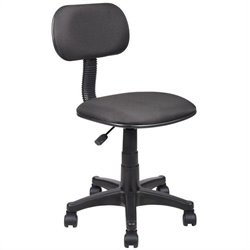 Boss Office Products Adjustable Steno Task Office Chair in Black