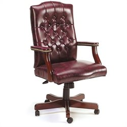 Boss Office Products Traditional Tufted Style Armchair - Oxblood