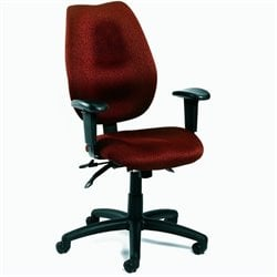 Boss Office Products Ergonomic Multi-tilt Task Chair with Adjustable Arms and Seat Slider - Black