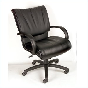 Boss Office Products Mid-Back Modern LeatherPlus Executive Chair