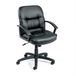 Boss Office Products Executive Mid-Back Leather Chair with Knee Tilt