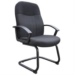 Color Fabric Guest Chair in Black