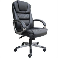 Boss Office Products NTR Executive Leather Arm Chair