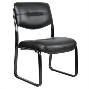 Leather Plus with Black Frame Guest Chair